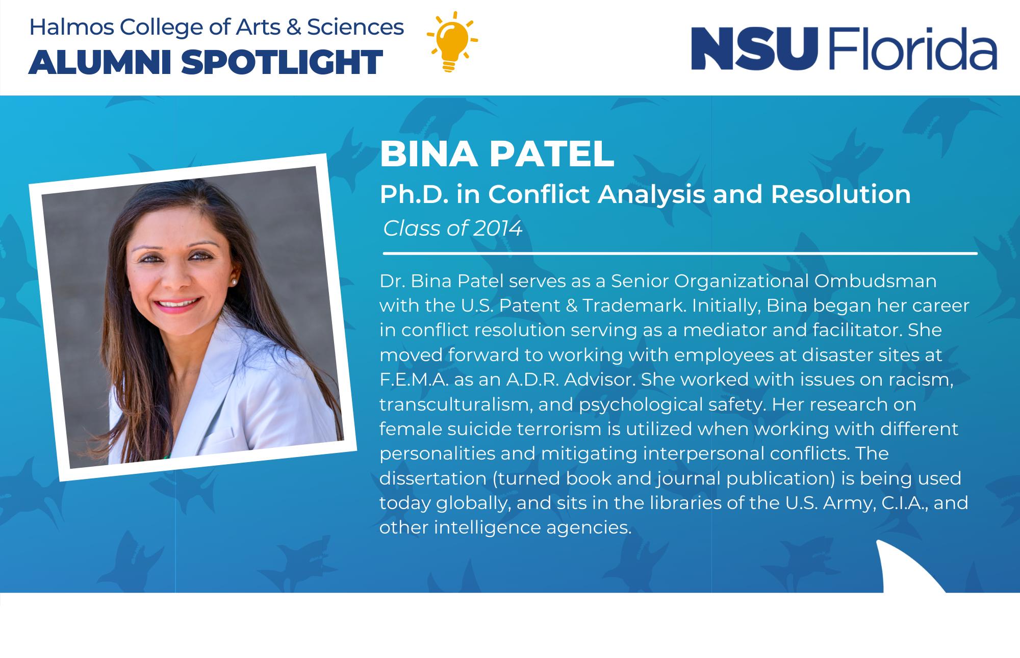 NSU Florida Alumni Spotlight Bina Patel